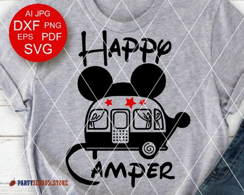 party season store happy camper Mickey Mouse