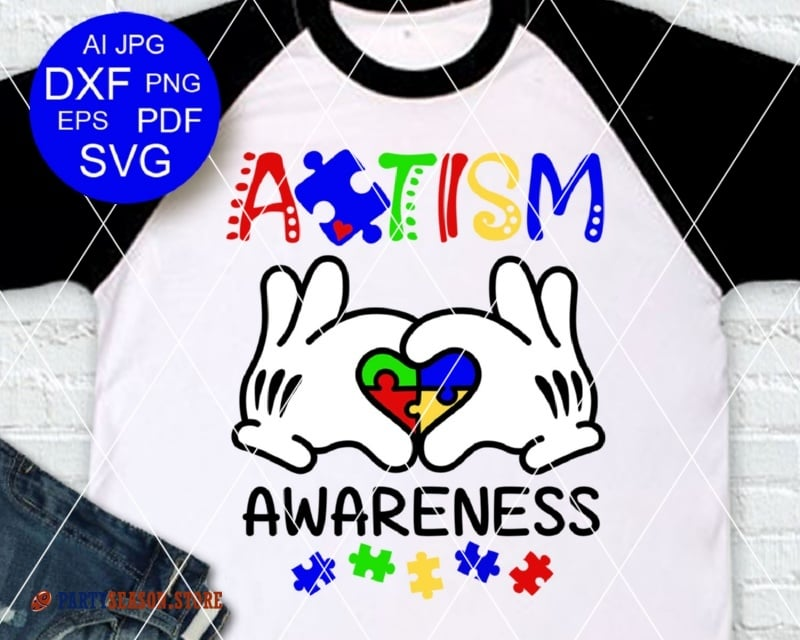 Autism Awareness Mickey hands Party Season Store