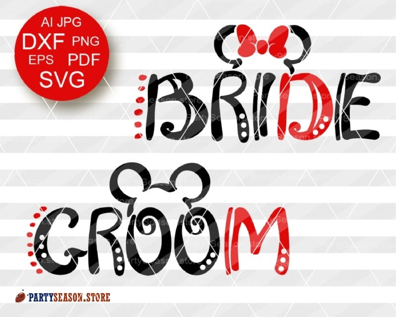 PartySeason bride groom svg