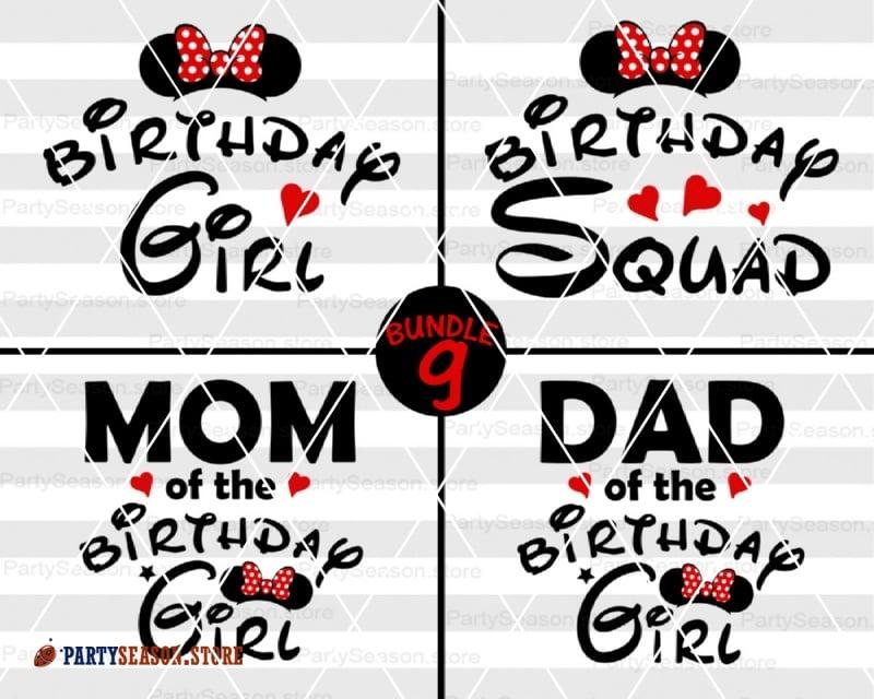 Mickey Birthday Svg Minnie Birthday Svg Disney Family Svg Mickey Birthday Boy Svg Disney Kids Birthday Svg Birthday Party Svg