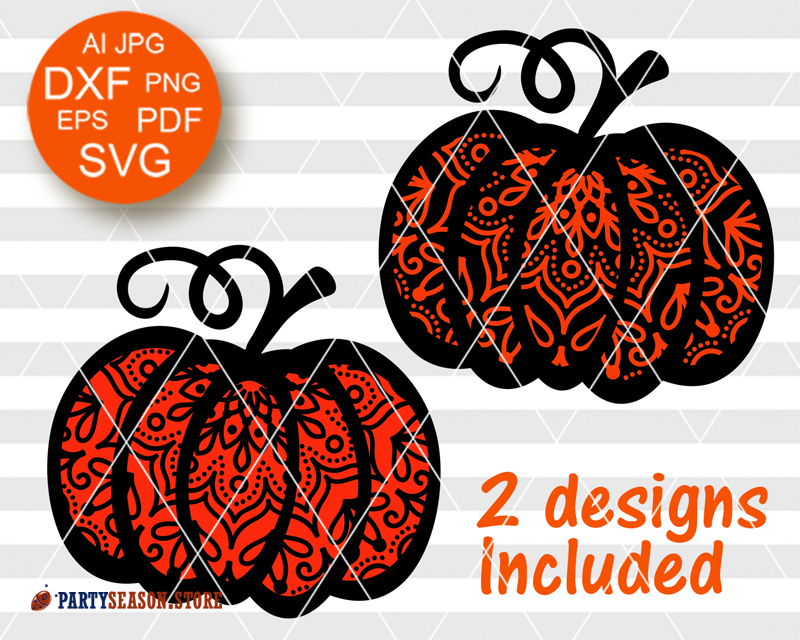 21+ Pumpkin Outline Designs And Monogram Set – Svg, Dxf, Eps, Png – Cutting Files PNG