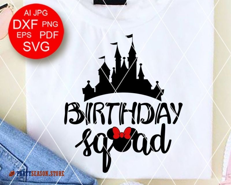 Party Season Store Birthday squad Minnie sign