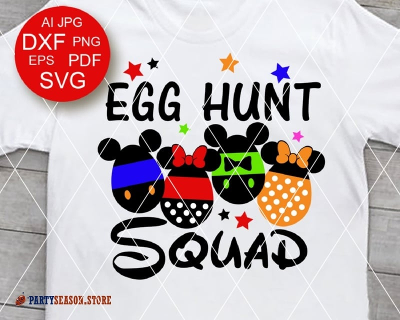 party season store EGG hunt Squad Disney
