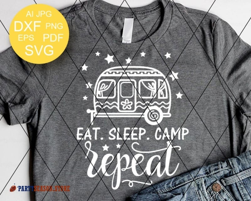 eat sleep camp repeat trailer Party season