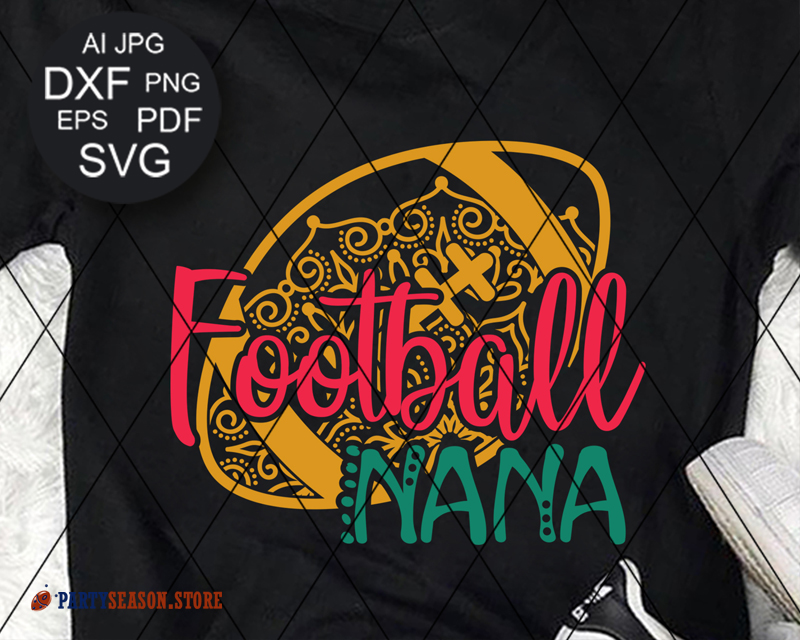Football Nana Zentangle Party season store