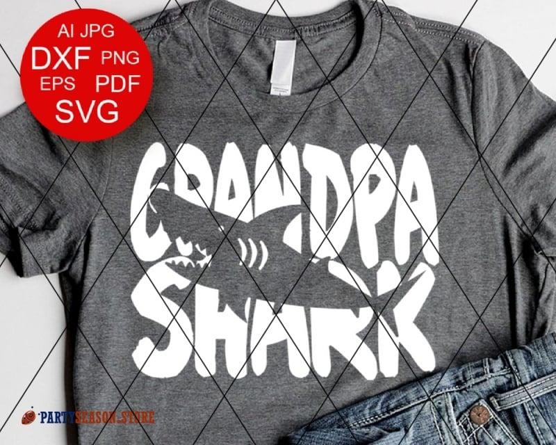 Download Grandpa Shark Svg