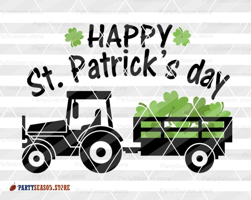 Happy St Patricks day Tractor party season store