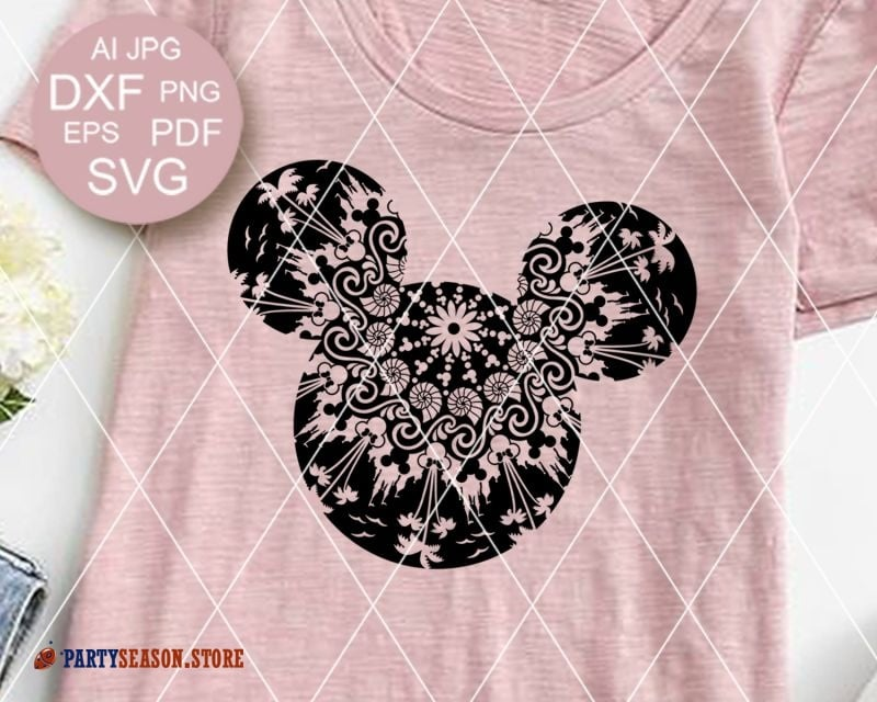 Mandala Mickey Mouse signs Party Season