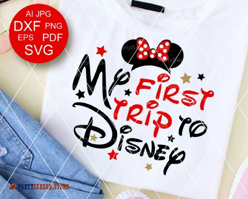 35ff950a My First Trip To Disney 2 MINNIE party season store