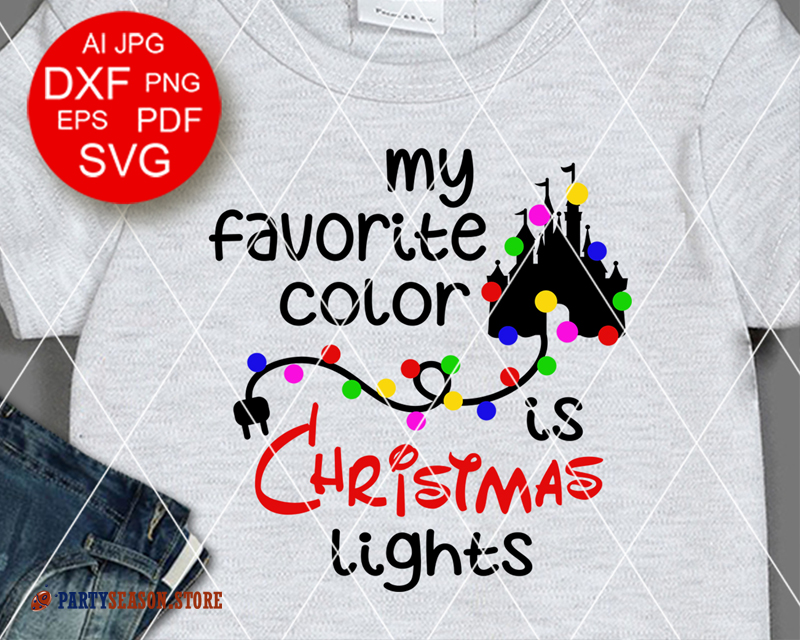 Party Season store christmas lights svg files