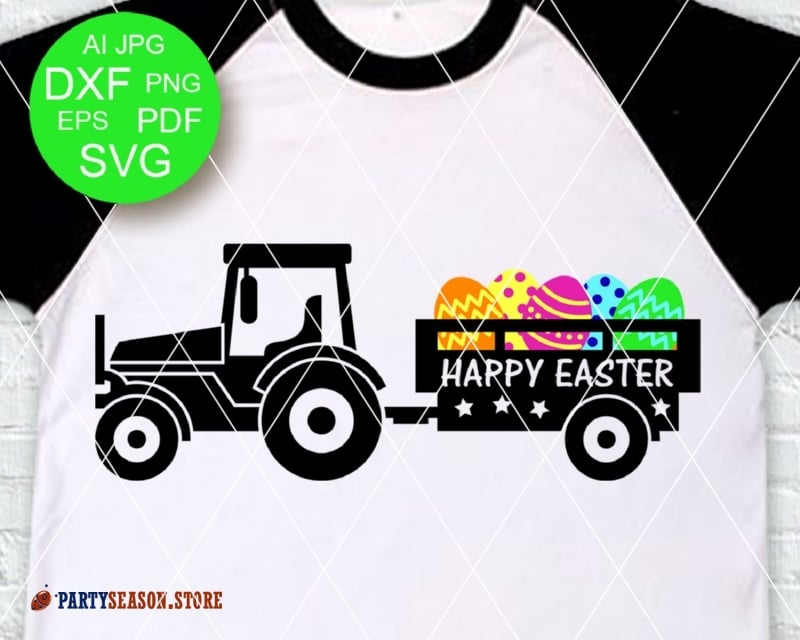 Tractor Happy easter Party season store