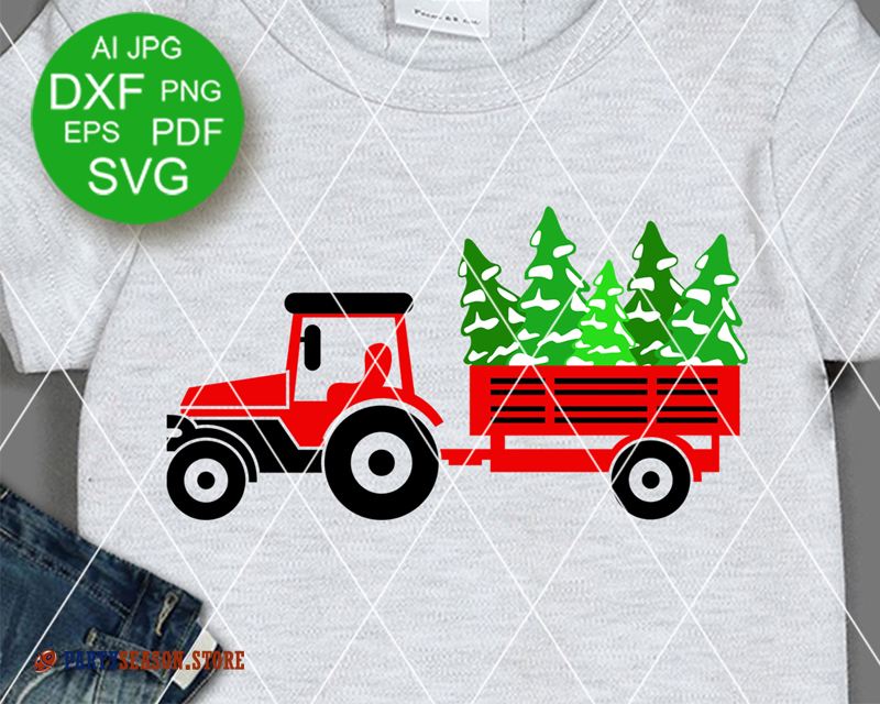 Tractor Trees Party Season store