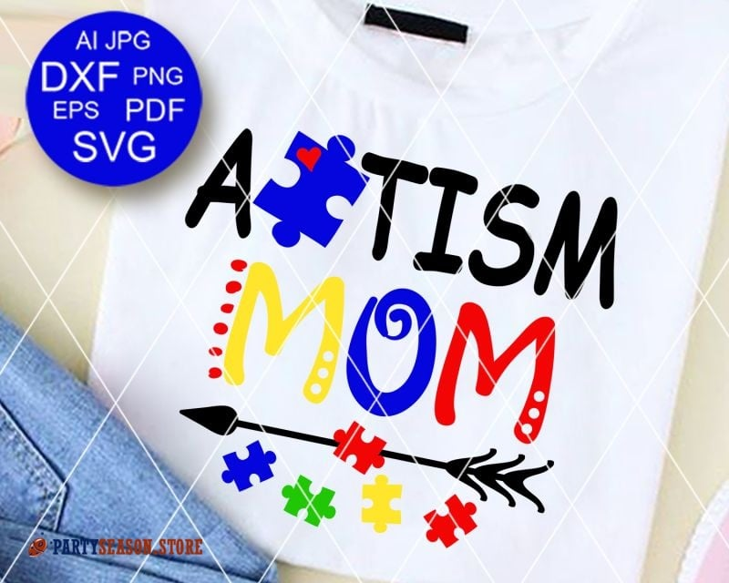 Party season store Autism MOM shirt