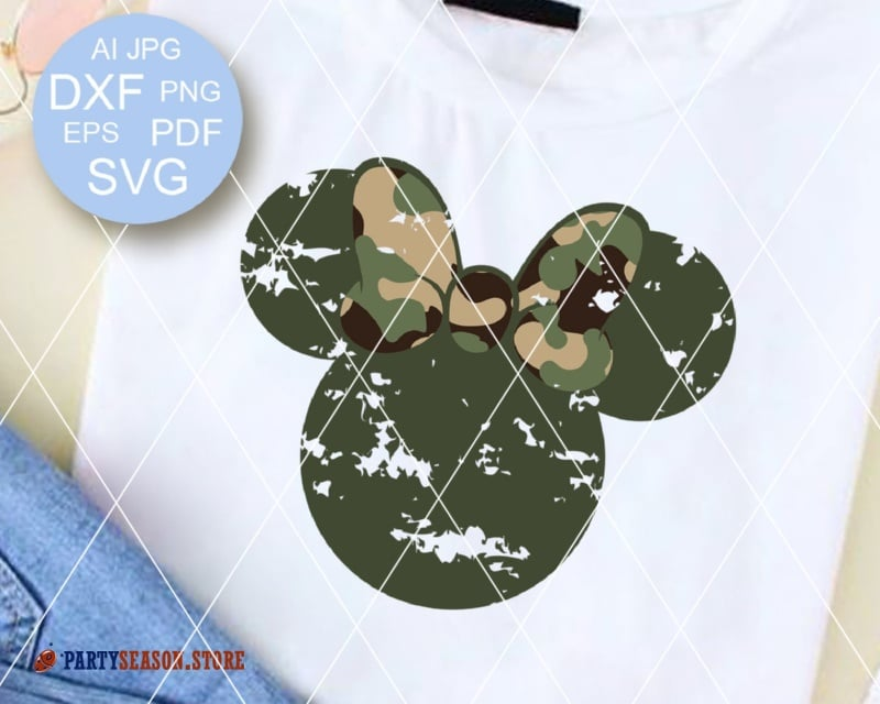party season Grunge Camoflauge Mickey