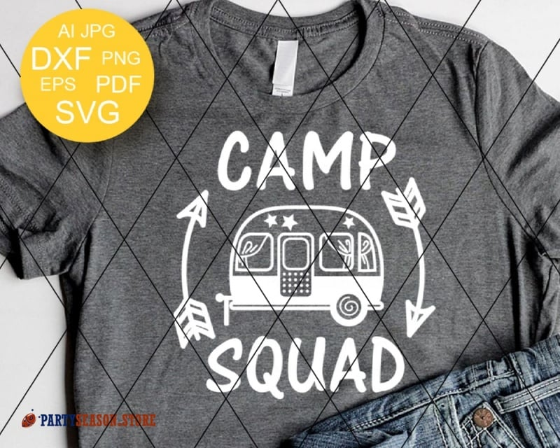 camp squad trailer Party season