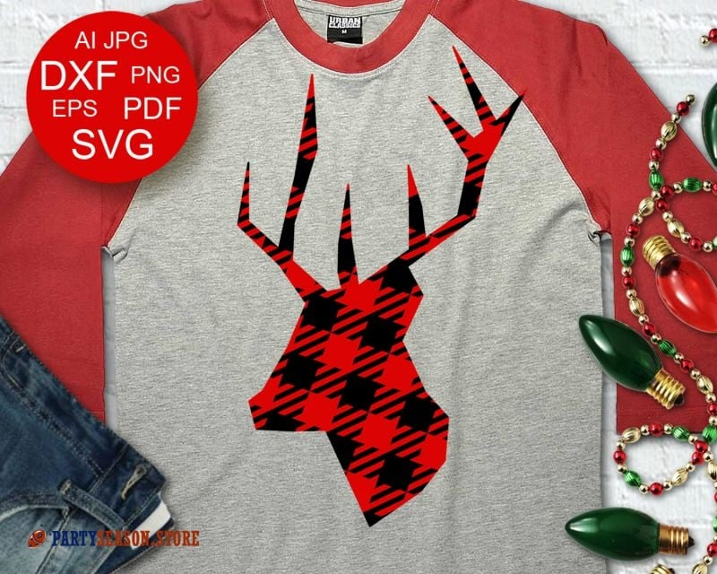 Deer Plaid svg Party Season
