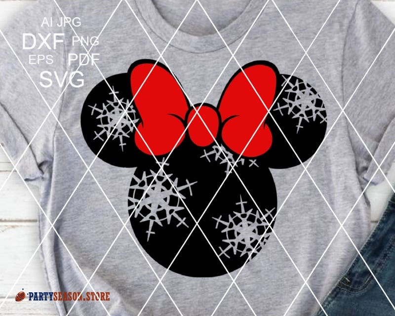 Minnie Snowflakes Party Season
