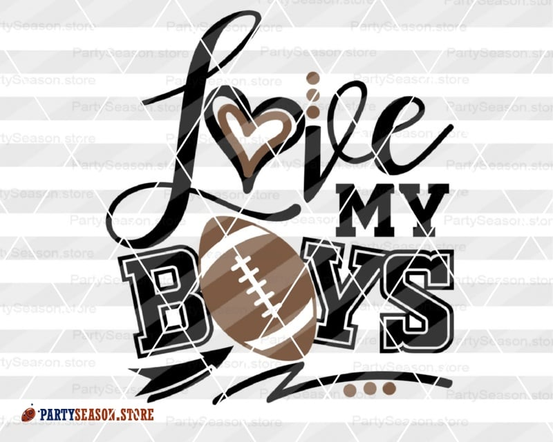 25+ Boys Love Football Girls Love Football Players Svg Dxf Eps Ai Jpg Png Design