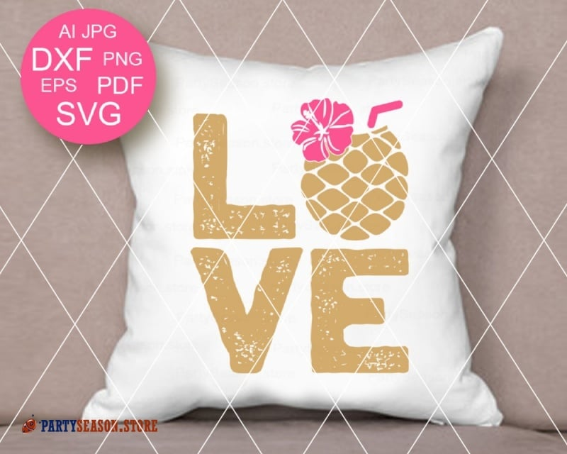 Love SVG Pineapple Party season