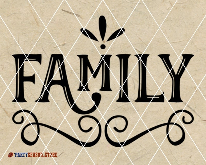 family SVG Party season