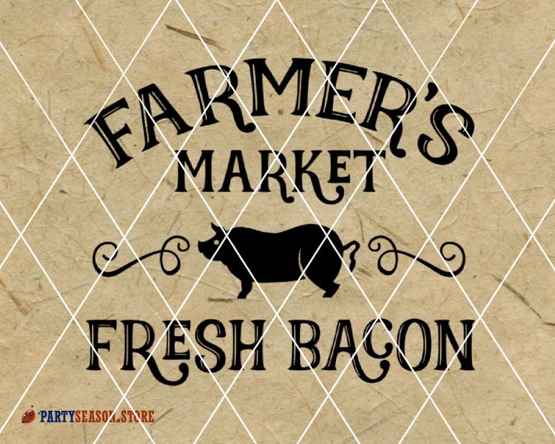 Farmers Market Fresh bacon Party season