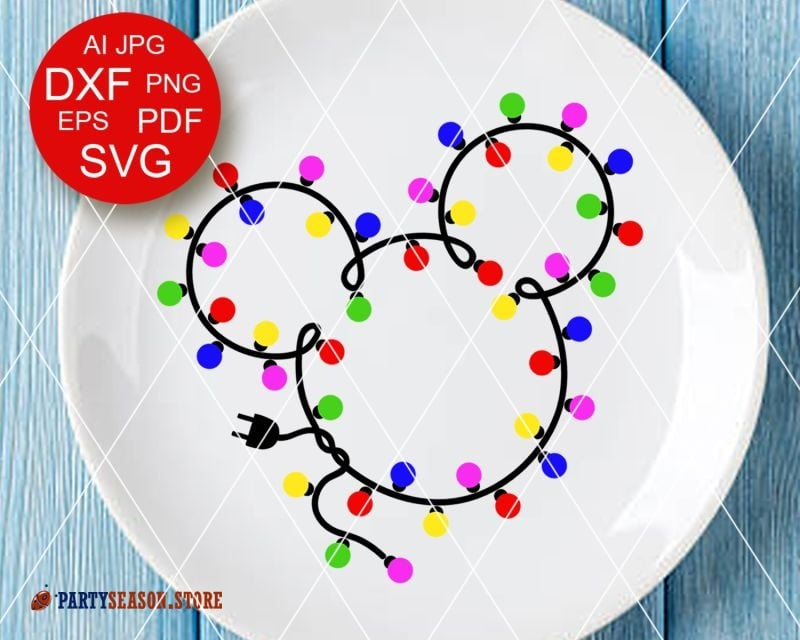 Christmas garland svg Mickey Mouse Party Season