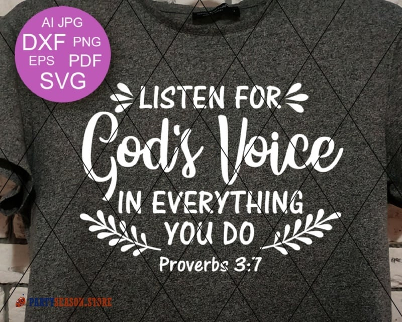 Listen for gods voice in everything you do party season