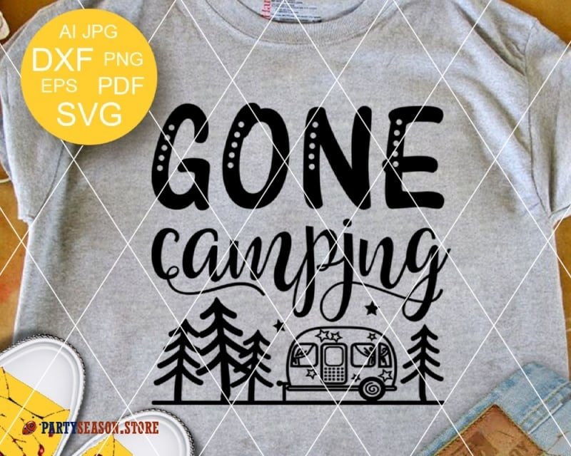 gone camping trailer Party season