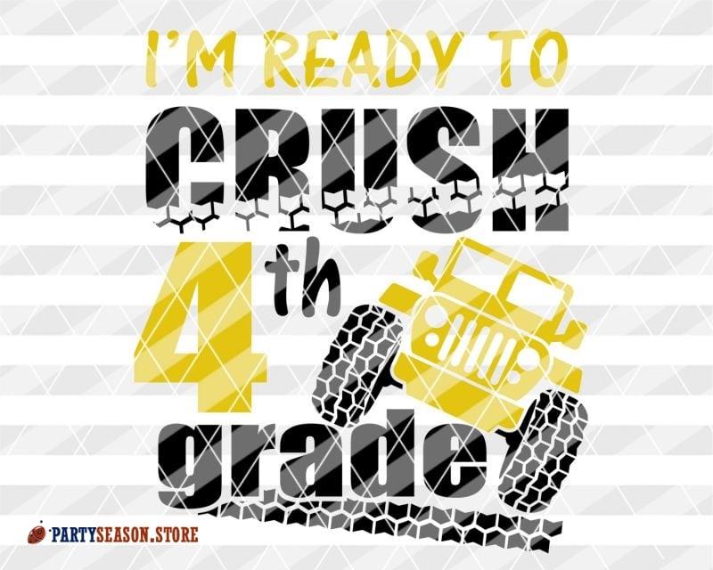 Crush 4th Grade Svg
