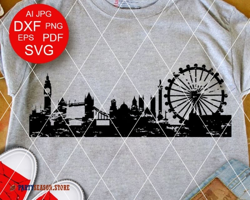 London Skyline Grunge Party season store