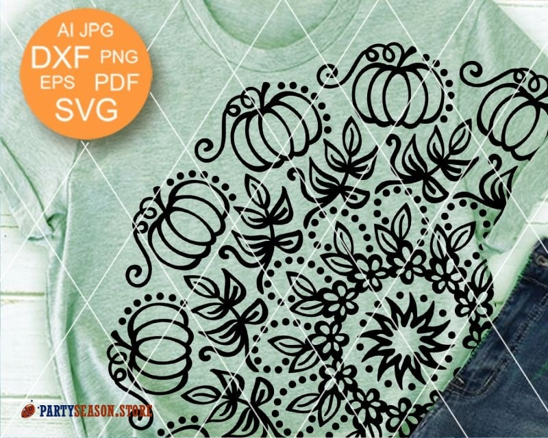 Mandala svg Pumpkin Party Season