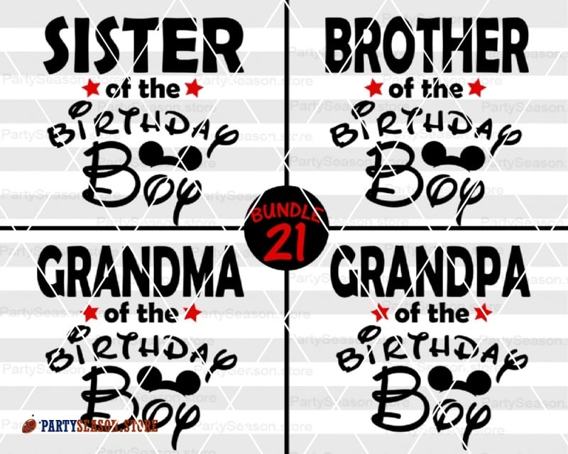 PartySeason Store Birthday shirts 21