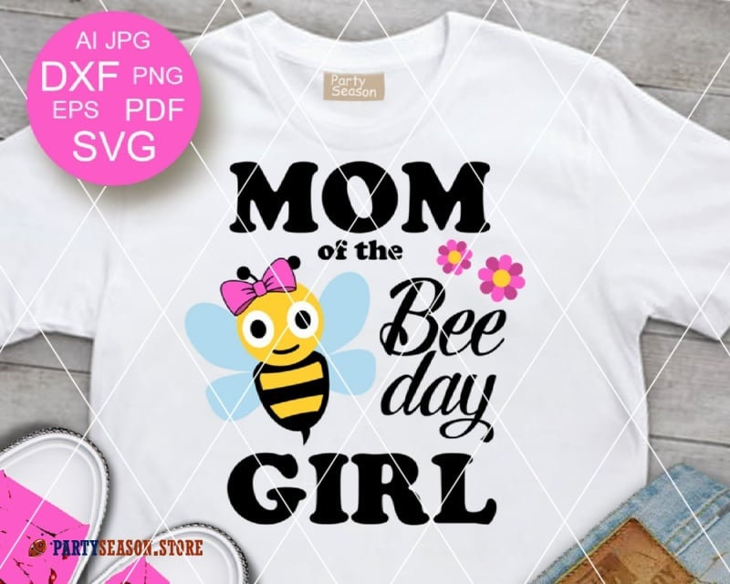 mom of the bee day girl Party season