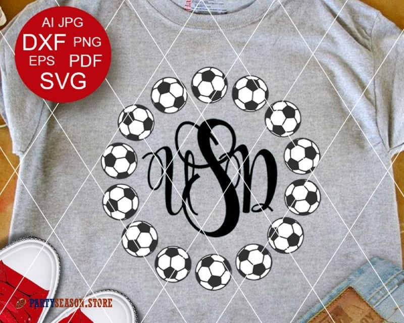 Soccer Monogram party season store