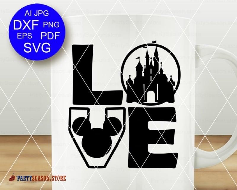 Download Love svg Mickey