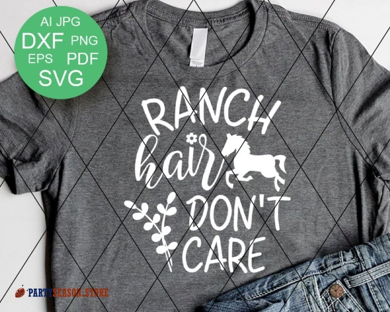 ranch hair dont care Party season