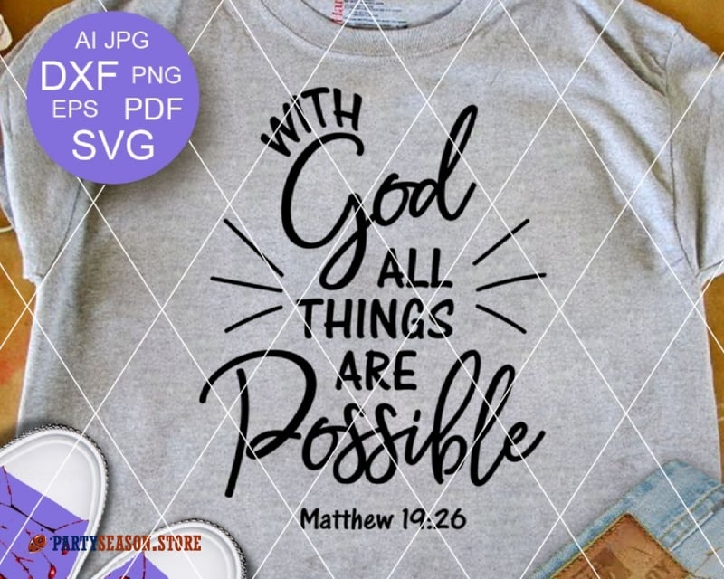 With God All Things are Possible  Party season store