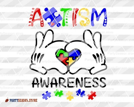 Autism Awareness Mickey hands Party Season Store 3