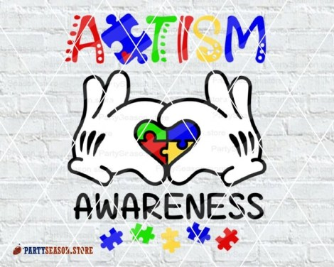 Autism Awareness Mickey hands Party Season Store 1