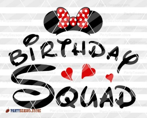 PartySeason Store Birthday squad minnie 1