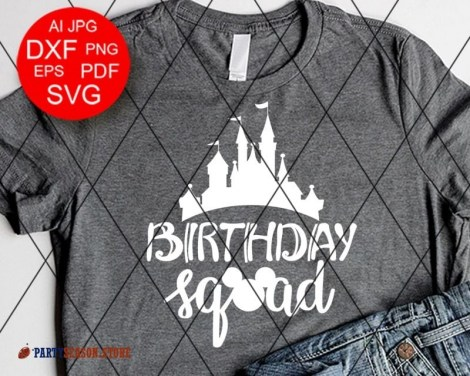 Party Season Store Birthday squad sign svg 1