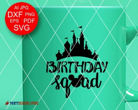 Party Season Store Birthday squad sign svg 2