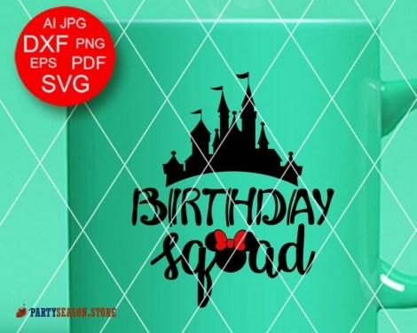 Party Season Store Birthday squad Minnie sign 2