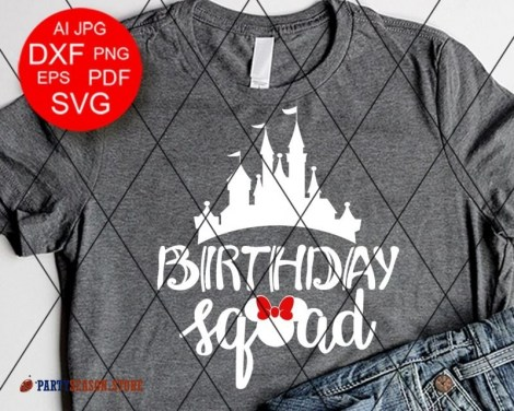 Party Season Store Birthday squad Minnie sign 1