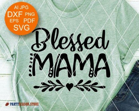Party season store Blessed mama Heart clipart 6