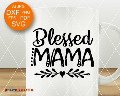 Party season store Blessed mama Heart clipart 8