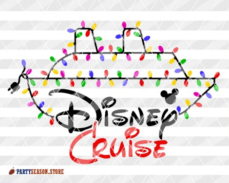 Party Season Garland Disney Cruise ship Mickey 4