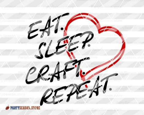 Eat. Sleep. Craft. Repeat Party Season Store 2