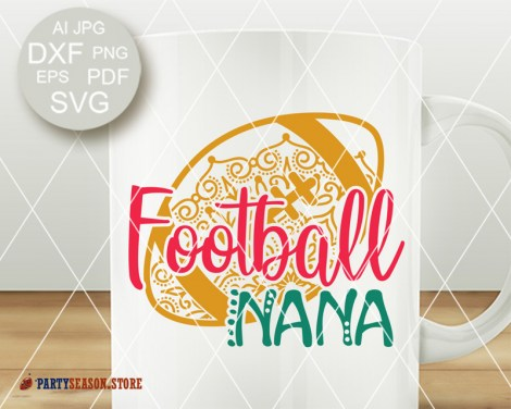Football Nana Zentangle Party season store 2