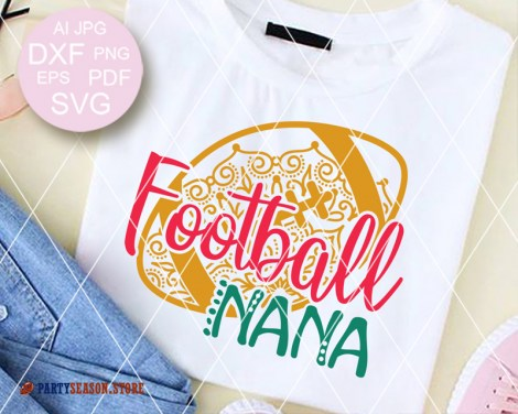 Football Nana Zentangle Party season store 1